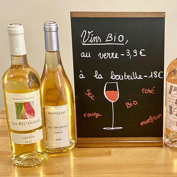 vins bio (blancs, rouges et rosés) à Limoges